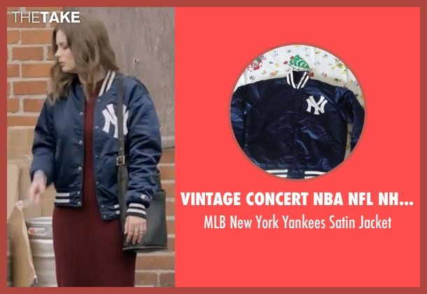 Vintage Concert NBA NFL NHL Shirts MLB New York Yankees Satin Jacket as  seen on Mickey Dobbs in Love  af4948d2fda0
