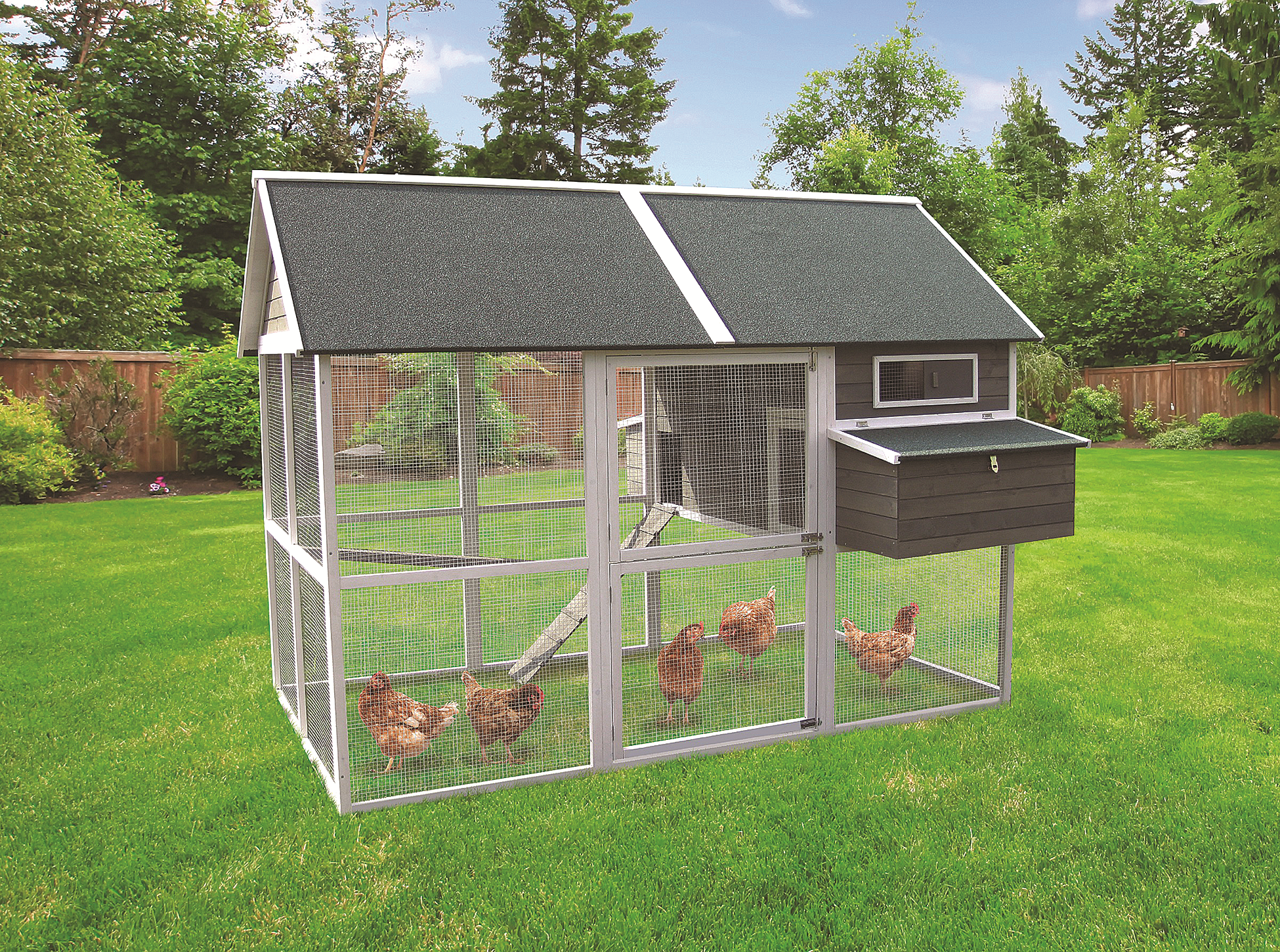 Innovation Pet Extra Large Green Walk In Coop Up To 15 Chickens Pet Chickens Coops Chickens Backyard Walk In Chicken Coop