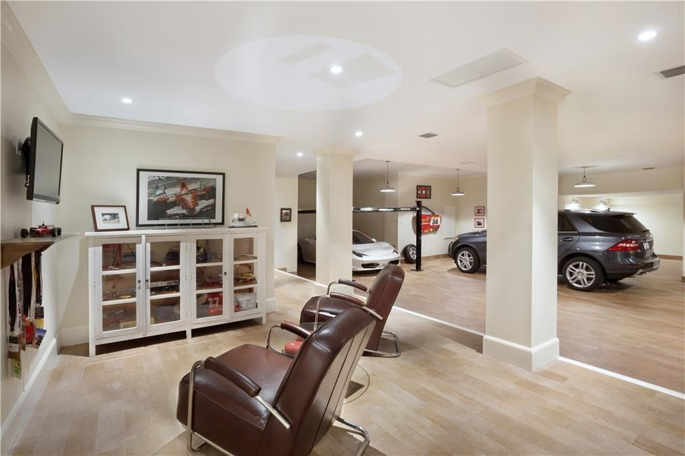 Modern Garage Man Cave : So much good stuff here love the light wood floors and