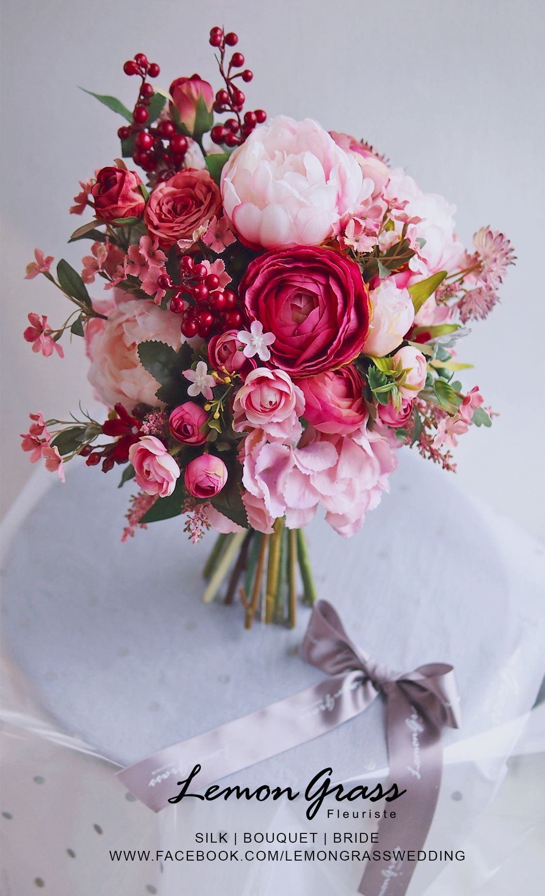 Lillies, roses, peonies oh my! We love this pink inspired bridal ...