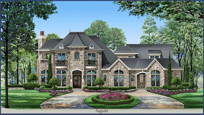 5000 Sq Ft House Custom Built Two Story House Plans Country House Plans European House