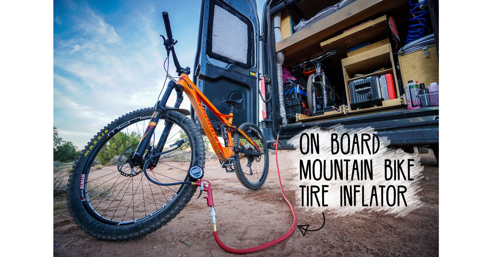 On Board Mountain Bike Tire Inflator Mountain Bike Tires Tire