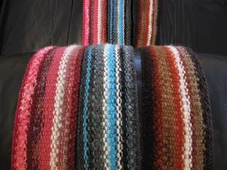 KNITTING TIDBITS: A Week of Scarves! Day 2 - Knitted Lengthwise Scarf