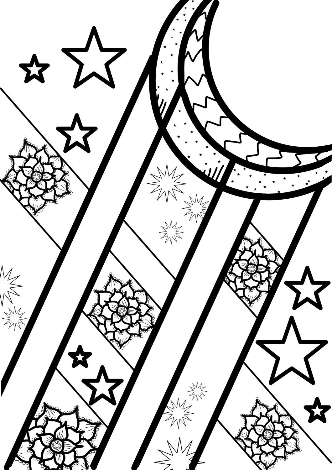 sci fi shapes a4 colouring pages by copperandtwineco on etsy - A4 Colouring Pages