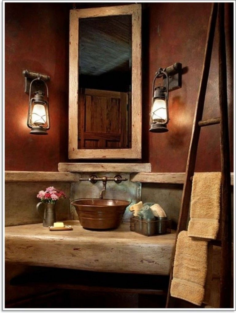 Best 27 Amazing Small Rustic Bathroom Decorating Ideas On A Budget Bathroomdesign Bathroomideas Bat Rustic Bathroom Rustic Bathroom Designs Rustic Bathrooms