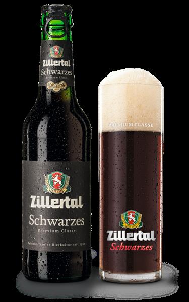 Zillertal Schwarzes Bier Trinken Bier Bierflaschen