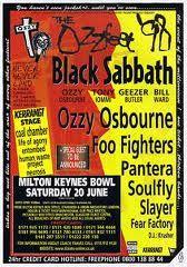 Ozzfest '98 UK flyer.