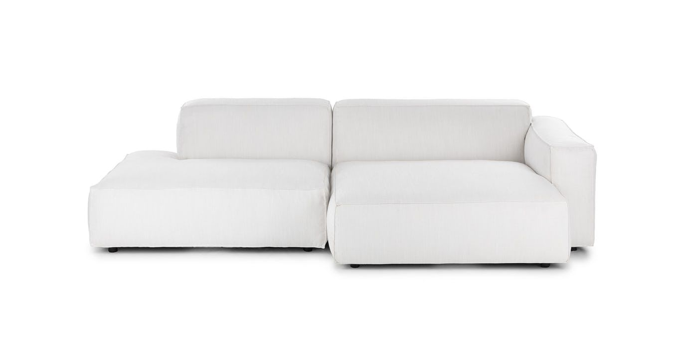 Solae Chill White Right Sectional Modern Sofa Couch Sectional Modular Sectional Sofa