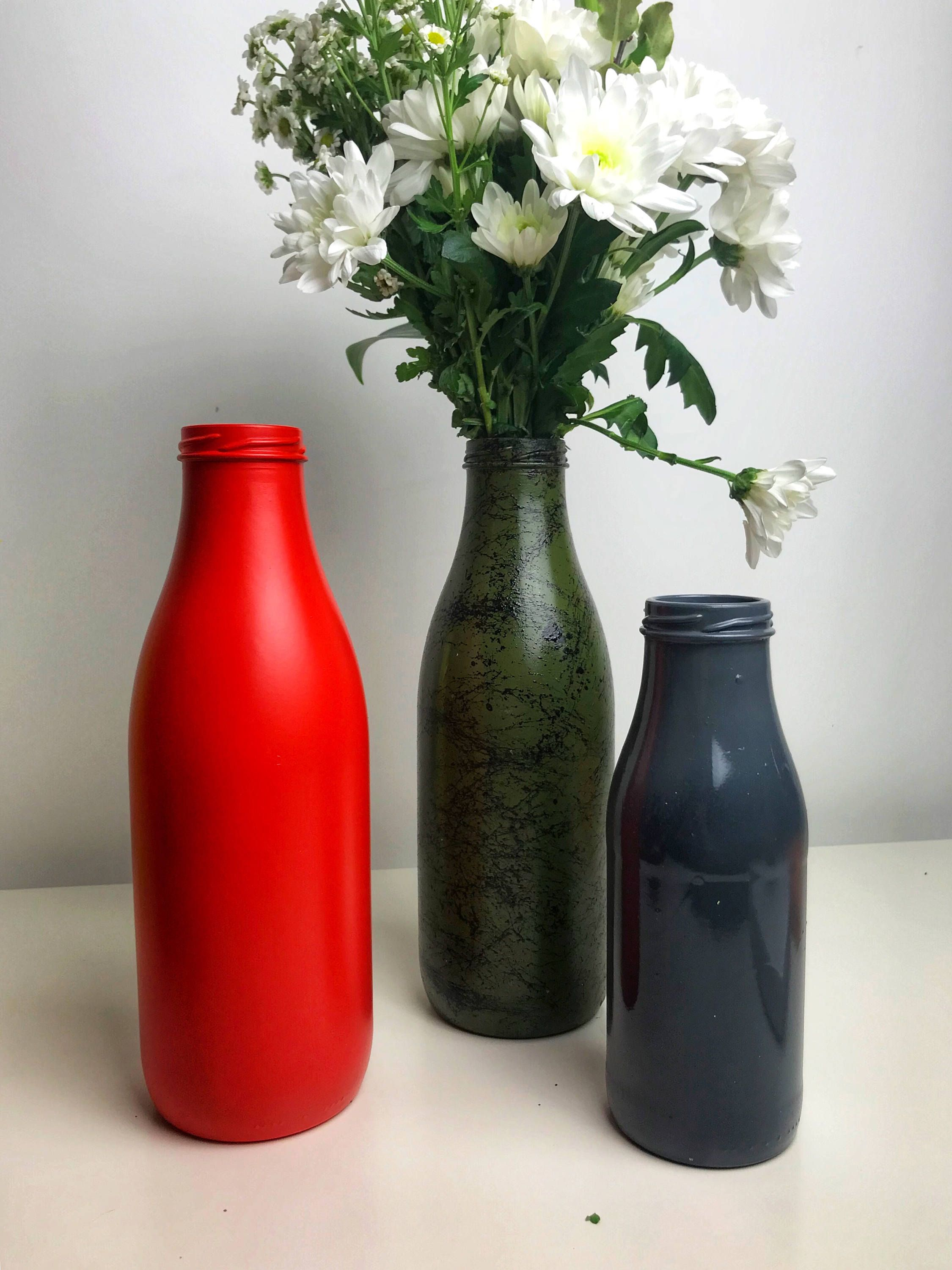 Flower Vase Variety Of Colors Bedside Table Decor Party Centerpiece Home Decor Bedroom Decor White Bedside Table Decor Red Vases Bottles Decoration