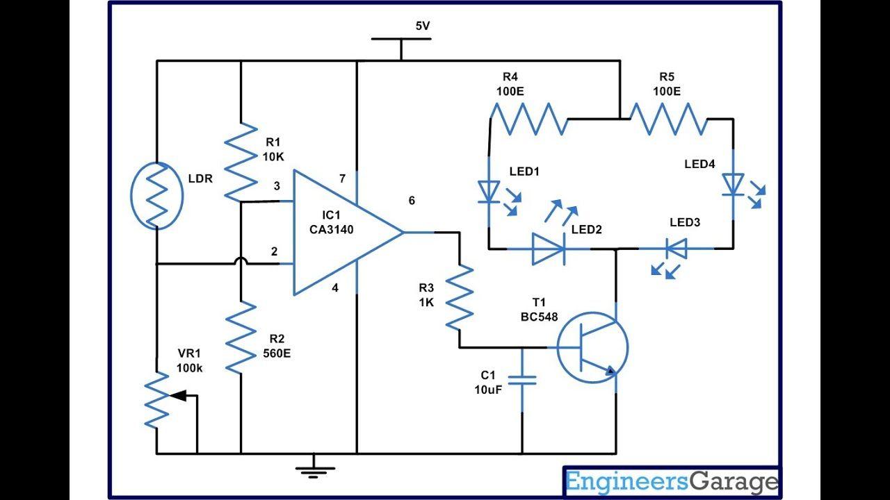 Lamp Using Ca3140 Ic Electronic Circuits In 2018 Pinterest Fridge Door Alarm Circuit Diagram