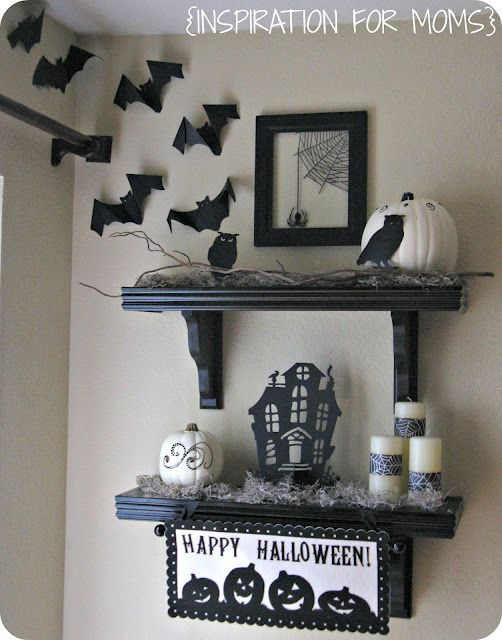 30 Fall and Halloween Mantel Ideas Shelf ideas, Halloween ideas