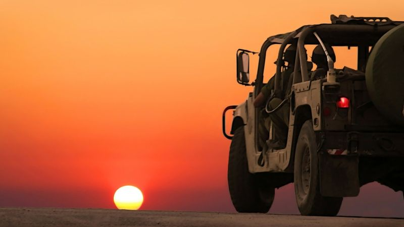 Military Sunset Sunset Military Humvee 1920x1080 Wallpaper