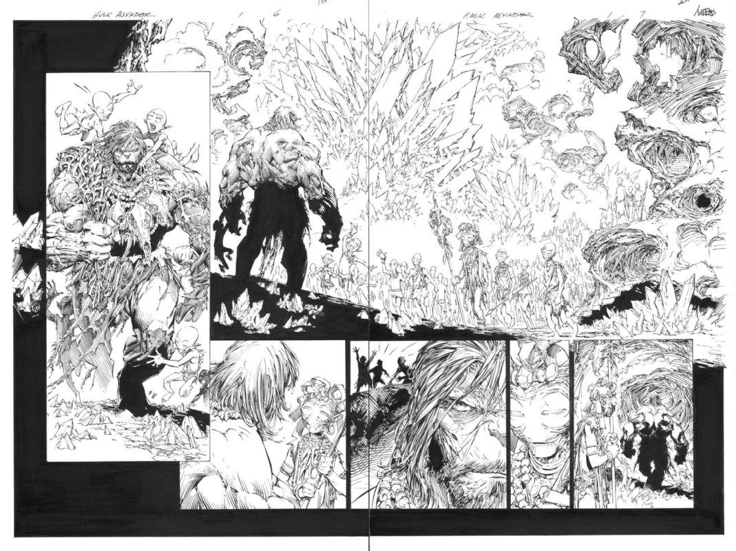 Incredible Hulk (2011-2012 series) #1 pages 6 & 7 - W.B.