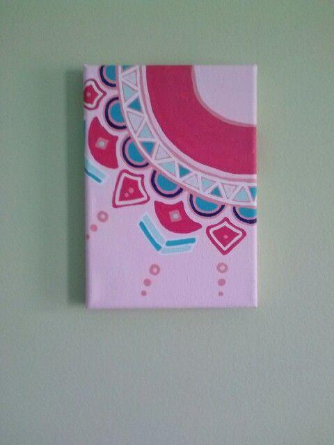 lovely Girly Canvas Painting Ideas Part - 13: Dorm decor - canvas art. DIY