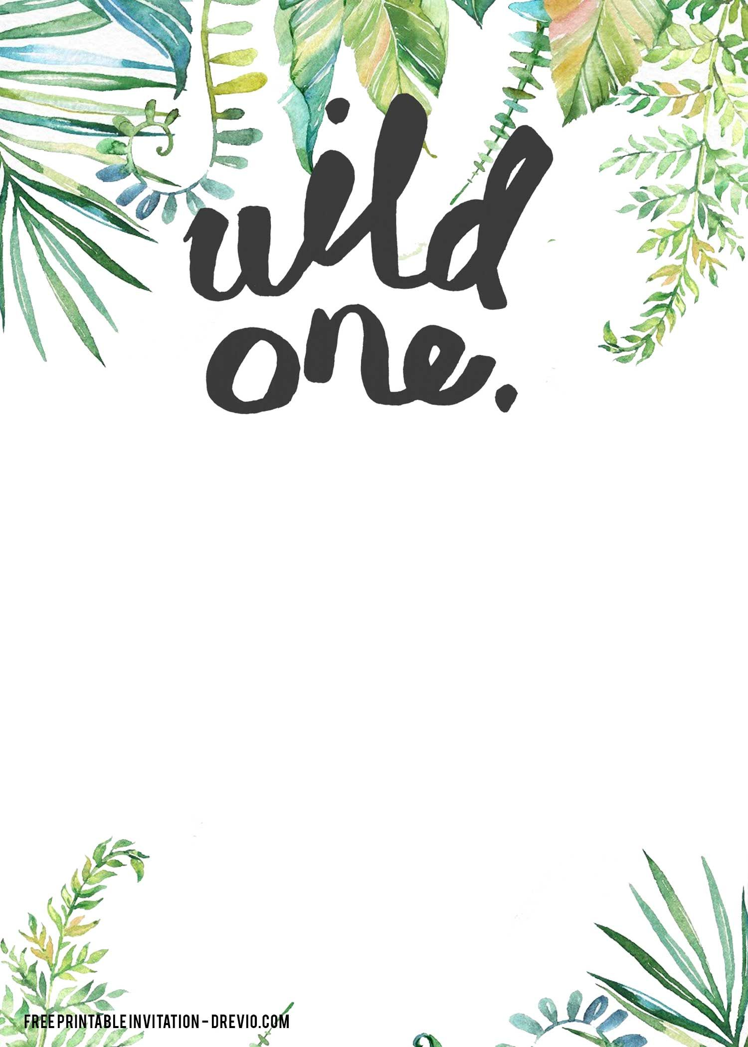 Free Printable Wild One Invitation Templates Free Invitation Templates Free Invitation Templates Jungle Birthday Invitations Free Invitations