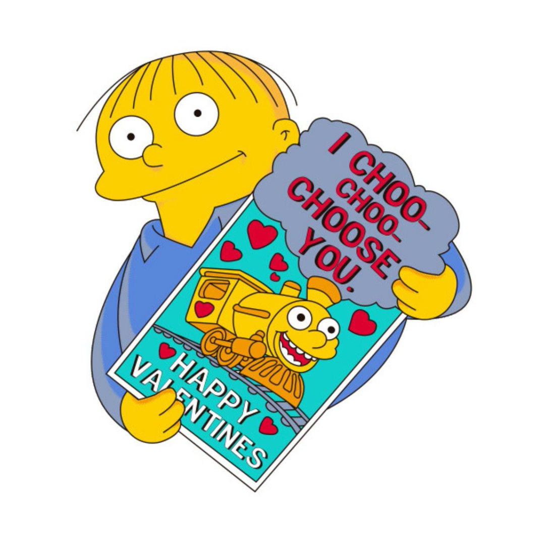 The Greatest Valentine S Day Card Of All Time From One Mr Ralph Wiggum Valentinesday Ralphwiggum Ichoochooc Ralph Wiggum Simpsons Characters Los Simpson