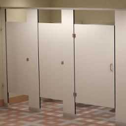 Solid Phenolic Core Partitions Commercial Bathroom Designs Bathroom Partitions Bathroom Design