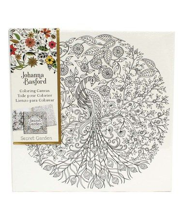 Another Great Find On Zulily Secret Garden Peacock Coloring Canvas Zulilyfinds