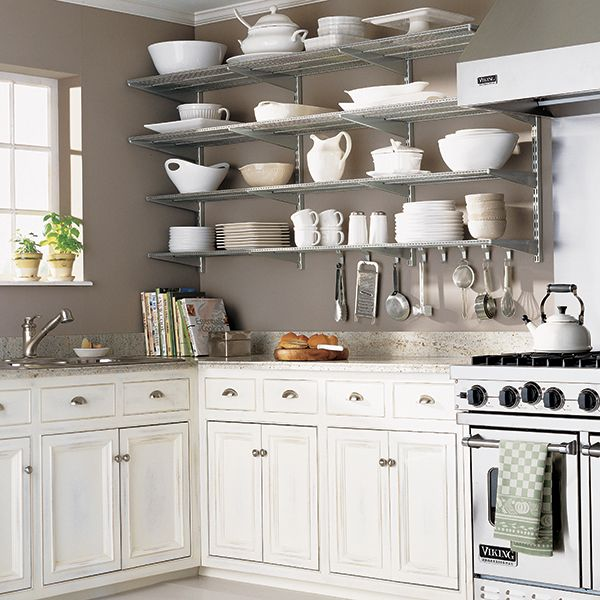 Platinum Elfa Kitchen Wall Kitchen Shelves Shelves And