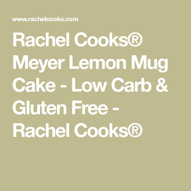 Meyer Lemon Mug Cake | Recipe | Low carb mug cakes, Low ...