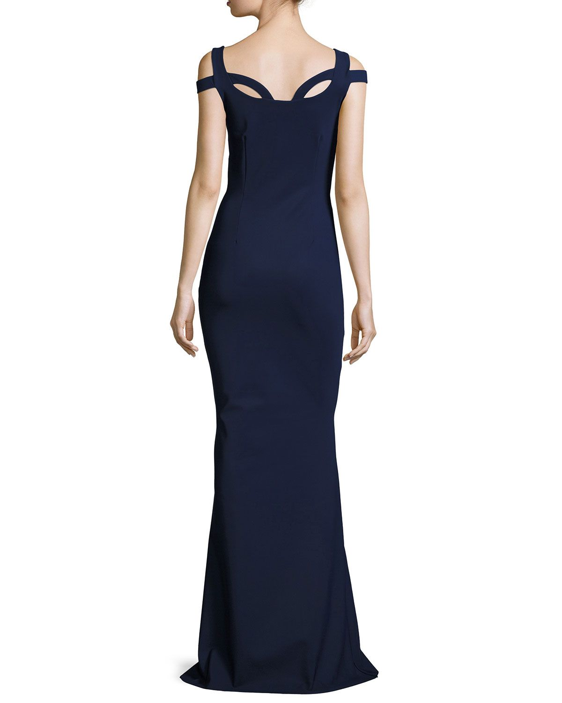 Chiara Boni La Petite Robe Every Long Loop-Neck Column Gown  Kleider