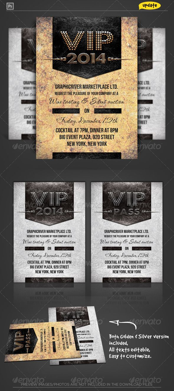 VIP Pass Corporate Invitation | Corporate invitation, Vip pass and ...