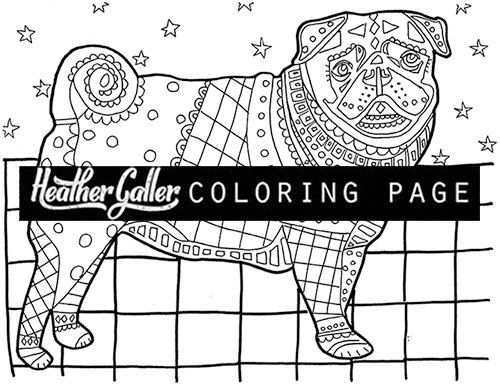 50 Off Storewide Pug Coloring Coloring Book Adult Coloring