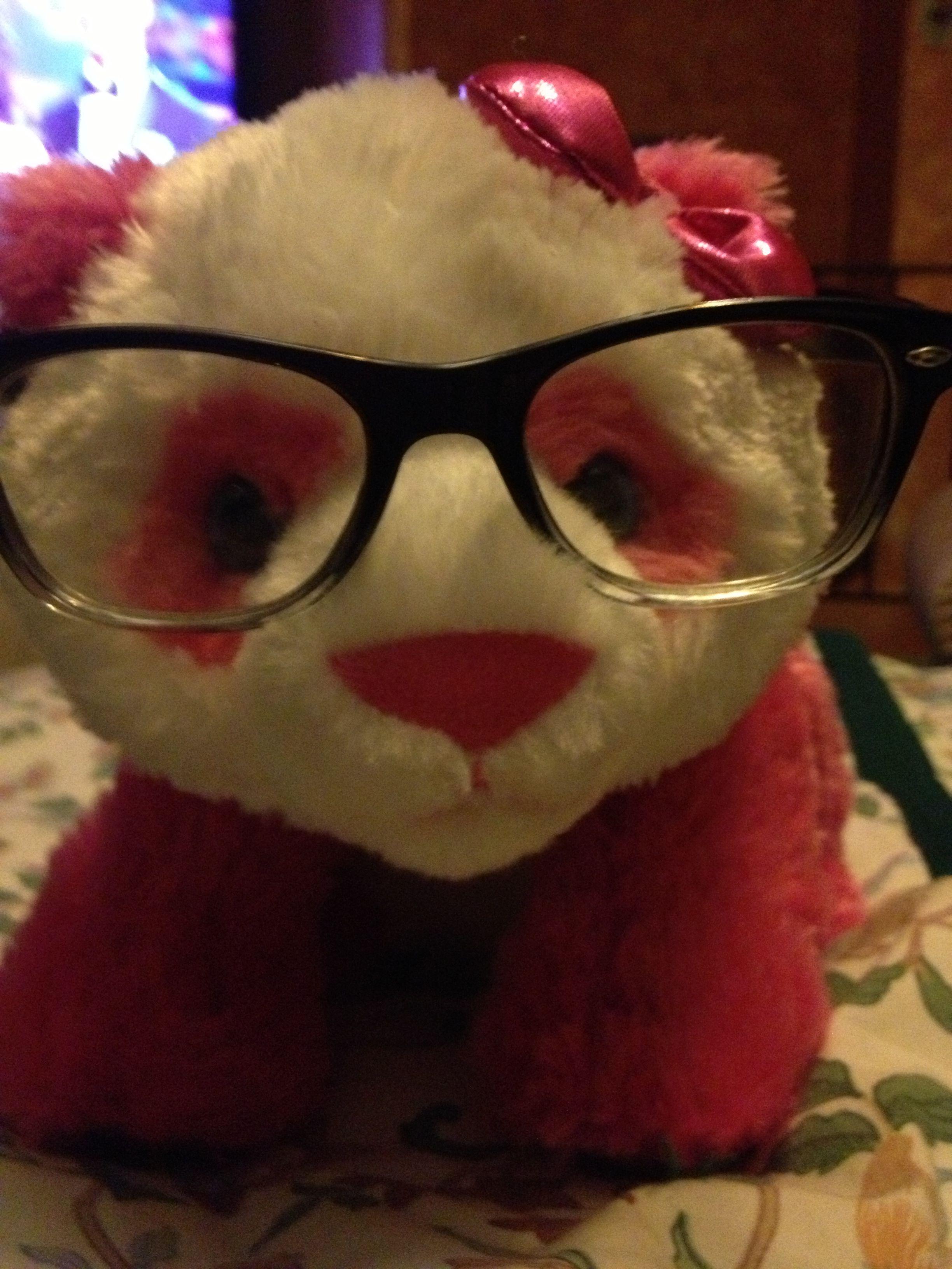 Hipster panda!
