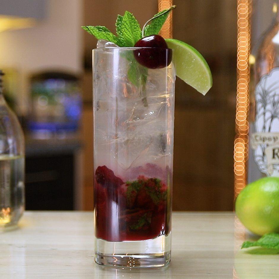 Cherry Lime Mojito Tipsy Bartender Recipe Tipsy Bartender Mojito Mojito Recipe