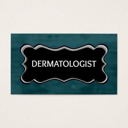 Dermatologist Elegant Name Plate Business Card Zazzlecom