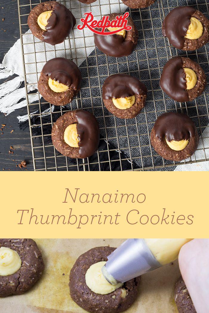 Nanaimo Thumbprint Cookies #nanaimobars