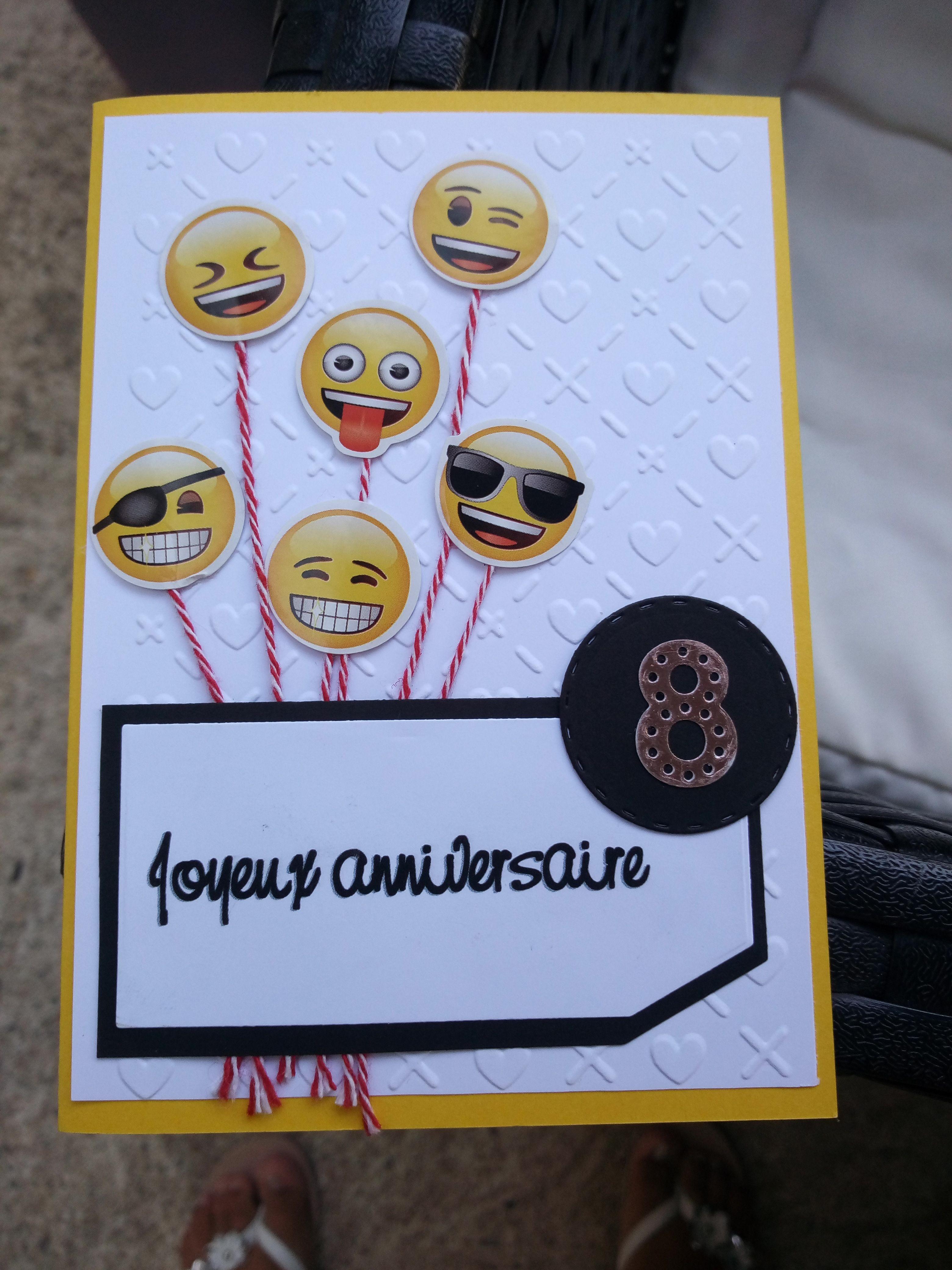 Smiley Faces Personnalisé Anniversaire Carte de vœux