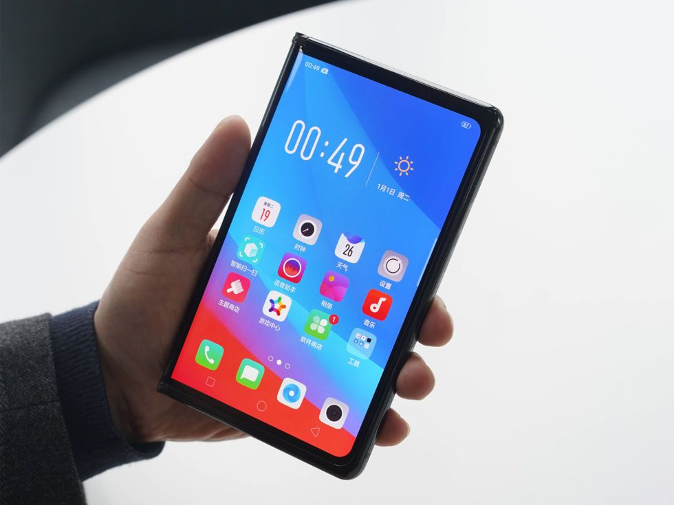 Oppo's foldable smartphone is another futuristic