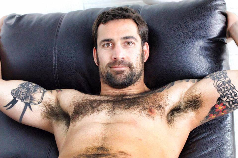 Hairy gay armpits