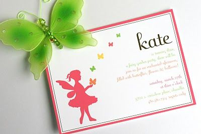 Real Parties Kates Fairy Garden Party – Fairy Tea Party Invitations