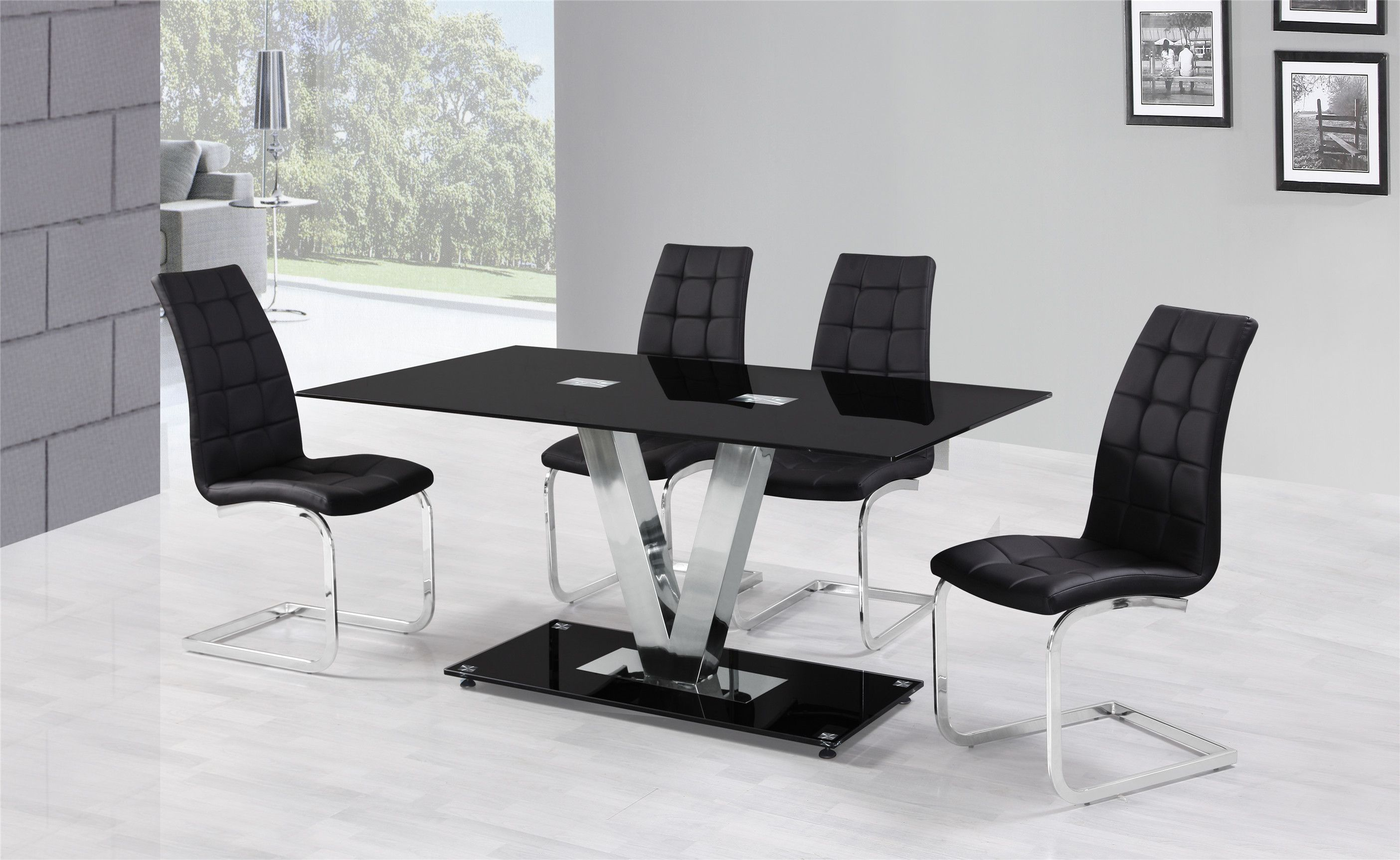 Black Dining Room Table And Chair Glass Kitchen Tables Glass Round Dining Table Luxury Round Dining Table