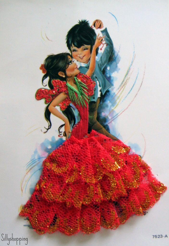 Приколами, открытка с фламенко