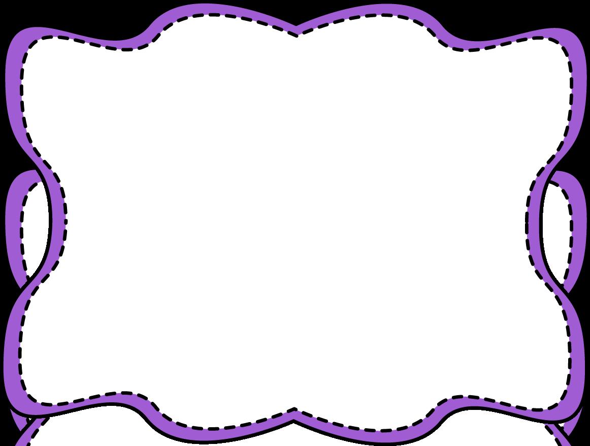 purple clip art border purple wavy stitched frame png 1162 878 rh pinterest com purple floral border clip art purple floral border clip art
