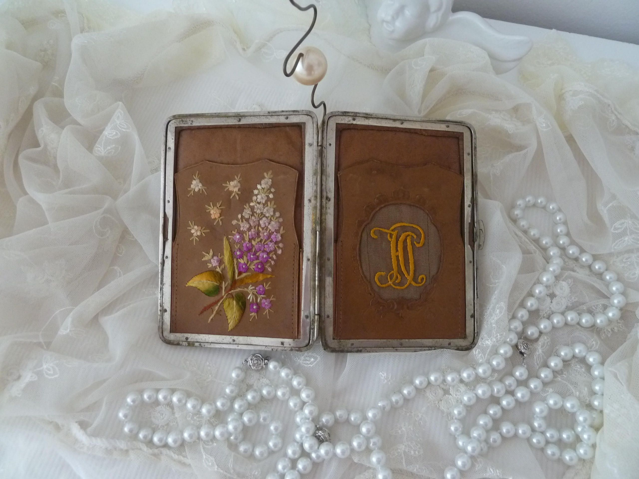 Business Card Case Antique 19th Century Edwardian Style