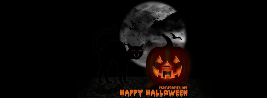 Happy Halloween Scary Pumpkin Fb Facebook Profile Timeline Cover