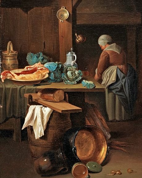 POOR MAID SERVANT GIRL DOING LAUNDRY ART DAILY LIFE PAINTING REAL CANVAS PRINT