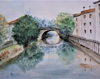 Watercolor paintings and sketches from France от PaintAndtheCity