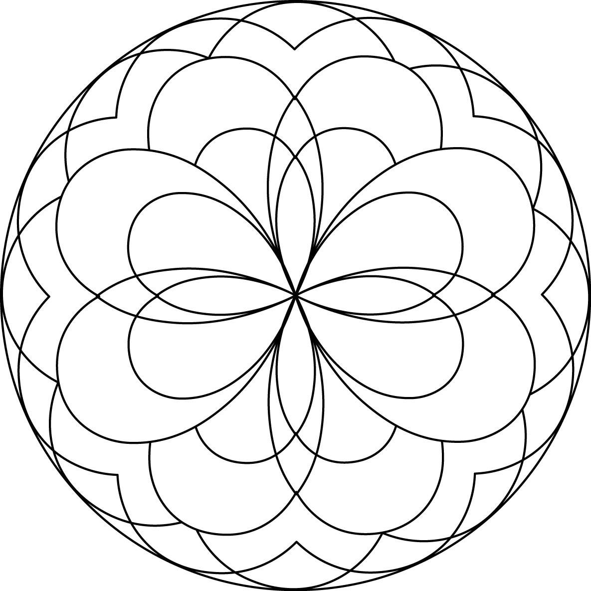 Mandala Coloring Pages For Preschoolers