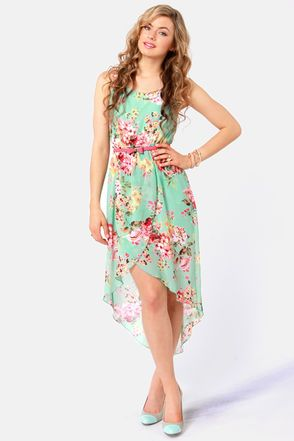 Apple Orchard Floral Print High-Low Dress | Spring, Skirts and ...