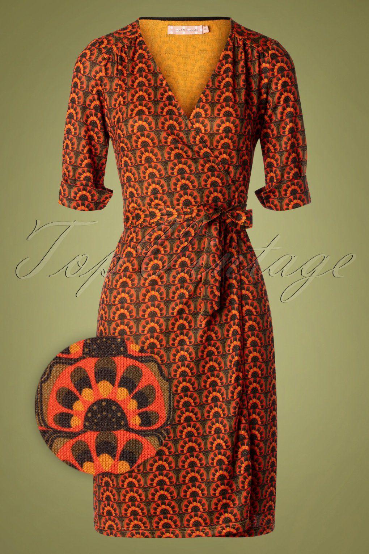 70s It S A Wrap Dress In Green And Orange Wrap Jurken De Jurk Jurkjes [ 1530 x 1020 Pixel ]