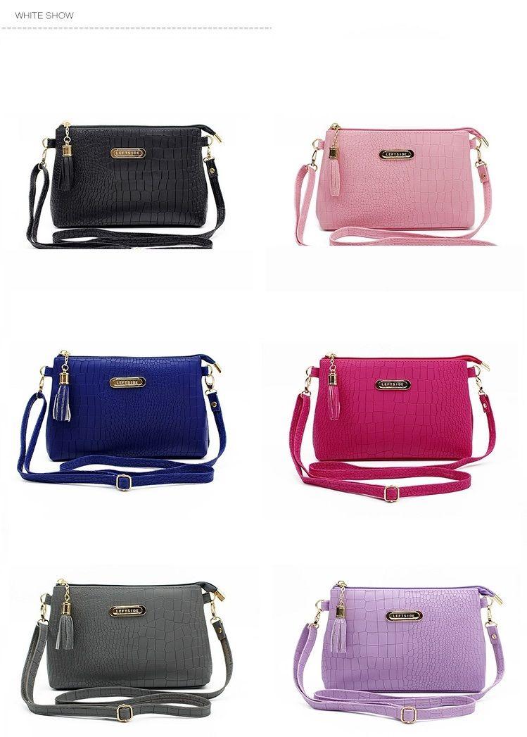 Shoulder Bag ·  19.3 - Awesome women famous brand fashion tassel Small  Handbags Hot sale crocodile women leather messenger 113bf8541ff75