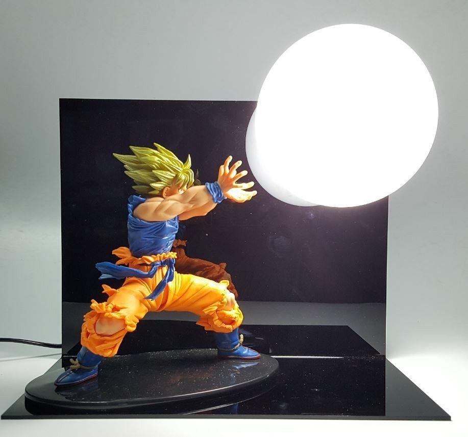 Dragon Ball Kamehameha Attack Super Saiyan Son Goku Diy Display Lamp Saiyan Stuff Dicas De Decoracao Geek Presentes Criativos Decoracao Geek