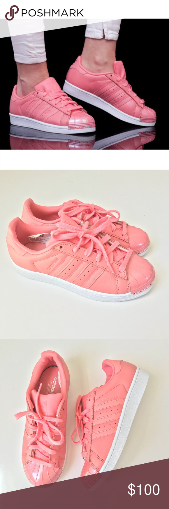 430bc97da63 Adidas Originals Superstar Metal Toe Rose Pink 7 Adidas Originals Superstar  Metal Toe Tactile Rose Pink Size 7 Style BY9750 New without tags or box has  been ...
