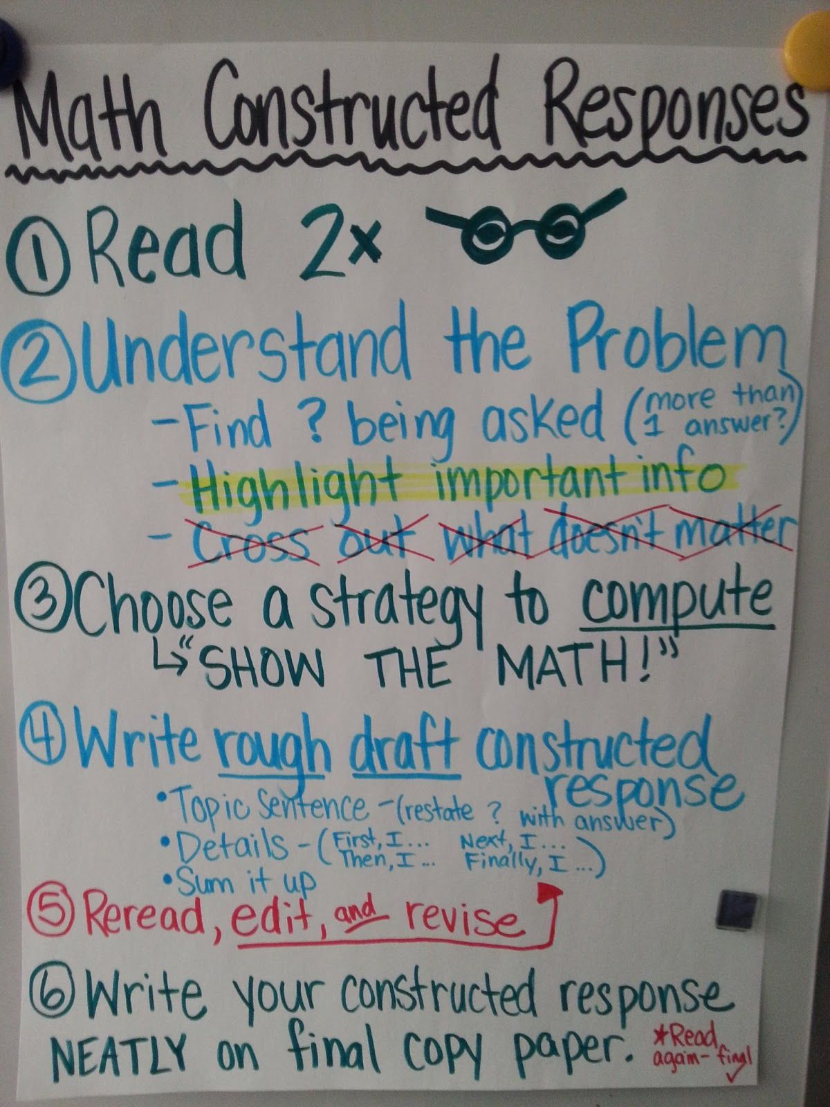 Writing Constructed Responses Anchor Charts  Thirdgradetroop