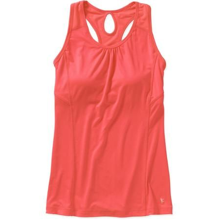 Danskin now women 39 s performance tank with built in bra 10 for Swim shirt with built in bra